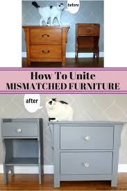 Folk Art Home Decor Chalk Paint Transformed Mismatched Furniture Pieces Into A Cohesive Look With
