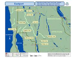 Map Of Michigan Lakes Our Service Area Tip Of The Mitt Watershed Council