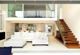 modern glasses windows pole barn houses interior with wooden floor