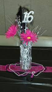 Centerpieces For Sweet 16 Parties by Red Zebra Decorations For Quinceaneras Dazzling 16 Centerpiece
