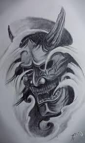 hannya mask tattoo black and grey hannya mask traditional classic by jackcoffins on deviantart