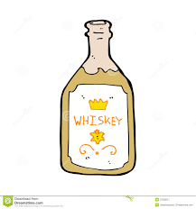 cartoon alcohol cartoon whiskey bottle stock image image 37036011