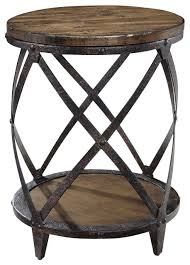 Side Accent Table Pinebrook Round Accent Table Industrial Side Tables And End