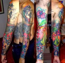 color sleeve tattoo ideas cool tattoos colorful sleeve tattoos