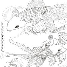 pictures fish coloring pages for adults 12 in coloring print with