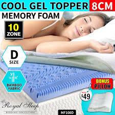 Gel Memory Foam Topper 10 Zone Single Sized Cool Gel Memory Foam Mattress Topper Bamboo