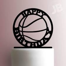 basketball cake topper happy birthday cake topper 100