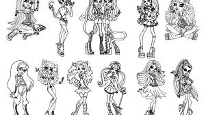 23 best simple monster high printable coloring pages ideas