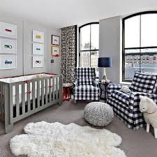 Gingham Nursery Curtains White Nursery Crib With Gray Glider And Ottoman Contemporary
