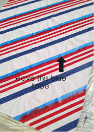 Blue And Red Striped Rug Striped Outdoor