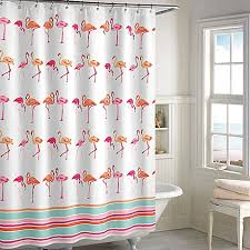 Flamingo Shower Curtains Flamingo Shower Curtain In Pink White Bed Bath Beyond