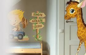 stickers girafe chambre bébé stickers animaux de la jungle pour chambre d enfant bébé vente de