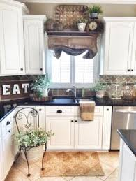 Farmhouse Kitchen Decor Burlap Sack Curtain IG Blessthisnest - Kitchen decor above cabinets