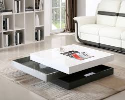 Coffee Table With Storage Modern Rotating Storage Coffee Table