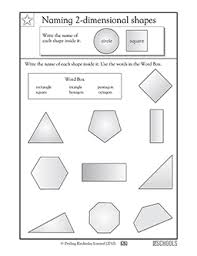 2nd grade math worksheets naming shapes 1 greatschools