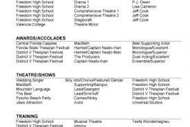 professional dance resume resume with headshot reentrycorps