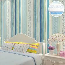 aliexpress com buy kids bedroom blue stripes wallpaper designs