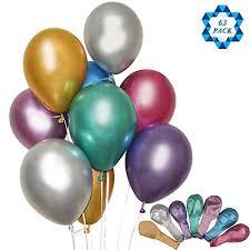 SOTOGO 63 Count Balloons 12 Inch Chrome Shiny Metallic Latex Balloon