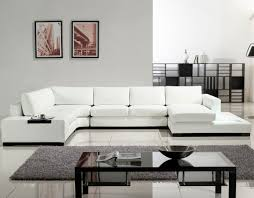 Living Room Layout Ideas With Sectional Sofa Alluring White Leather Sectional Sofa Ideas For Living Room