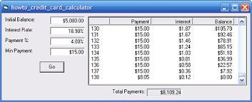 Formula Credit Card Minimum Payment Vb Helper Howto Calculate How It Will Take To Pay A