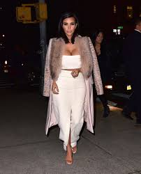 kim u0027s idea of winter whites is a calvin klein crop top and slitted
