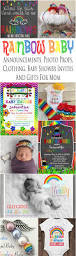 rainbow baby announcement cards baby shower invites clothing