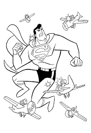coloring pages superman animated images gifs pictures