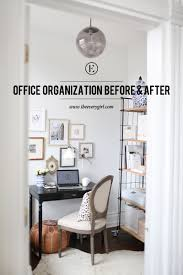 interior of a home organizing a home office before u0026 after the everygirl