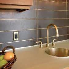 Mesmerizing Metal Tile Kitchen Backsplash Come With Brushed Gold - Metal backsplash