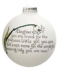 daughter you are loved personalized ornament