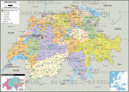 swiss map geoatlas countries switzerland map city illustrator fully