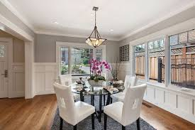 Transitional Dining Rooms Dining Room With Hardwood Floors U0026 Crown Molding In Burlingame Ca