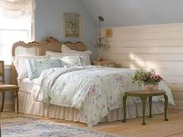 retro bedroom ideas with floral navy blue shabby chic bedding