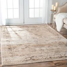 nuloom tiffany persian vintage viscose ivory area rug free