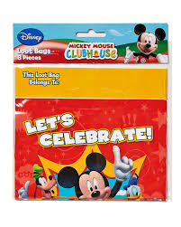 mickey mouse gift bags mickey mouse clubhouse party favor treat bags 8ct walmart