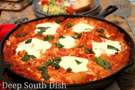 Lasagna Recipe Cottage Cheese by Deep South Dish Skillet Lasagna