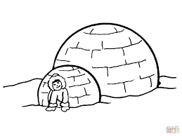 inuit igloo coloring page free printable coloring pages