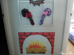 my vintage retro faux brick christmas fireplace with burning yule