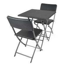 Folding Bistro Table And 2 Chairs Blow Moulded Folding Bistro Table Available At This Is It Stores Uk