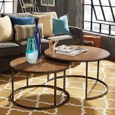 round nesting coffee table hammary soho round nesting cocktail table khaki travertine oil