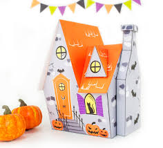 Halloween Gift Boxes Diy Halloween House Printable Haunted House Printable Gift