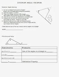 Sum Of The Interior Angles Of A Polygon Worksheet Best 25 Exterior Angles Ideas On Pinterest Interior And