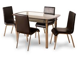 Dining Set With 4 Chairs Harlequin 120cm Glass Dining Table And 4 Chairs Set