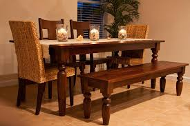 wooden table and bench solid wood dining table and bench seats dining room ideas