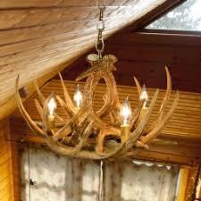 Authentic Antler Chandelier Antler Chandeliers Rustic Ceiling Lights U0026 Fixtures Cabin Place