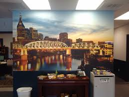 wall murals dynamark graphics group nashville nabrico skyline wall mural
