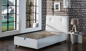 osaka platform twin bed in escudo white by istikbal furniture