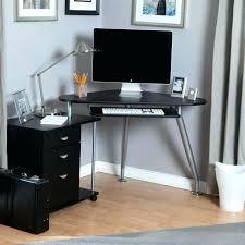 Small Wood Corner Desk Light Wood Corner Desk Computer Small Black Varnished Decor
