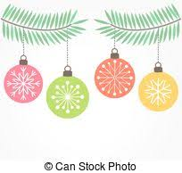vector illustration of ornaments hanging