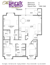 3 bedroom floor plan floor plan and ameneties the heights
